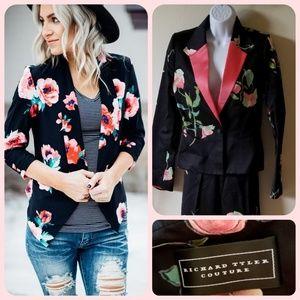 Richard Tyler Couture floral blazer jacket